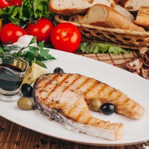 Семга на гриле Заказать Доставка еды Екатеринбург