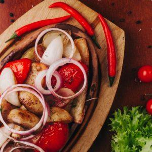 Горячая сковородка по-кахетински Доставка еды Грузинская кухня Екб